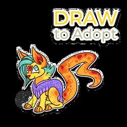 Draw to adopt Kittie (CLOSED) by byDaliaPamela