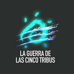 La guerra de las cinco Tribus - logo by byDaliaPamela