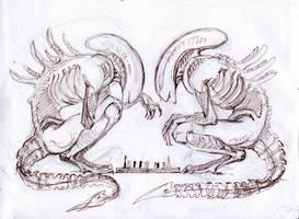 Alien: behind the scene by Unita-N