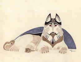 Snow dog by Unita-N