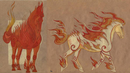 Character sketch Firehorse 2 by Unita-N