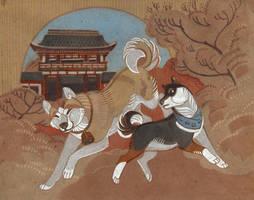 Shrine guardians by Unita-N