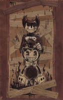 BATIM: the Ink Demon + speedpaint by Unita-N