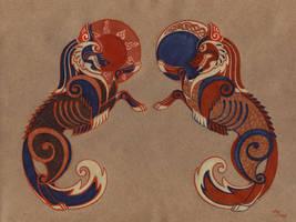 Commission Geri and Freki by Unita-N