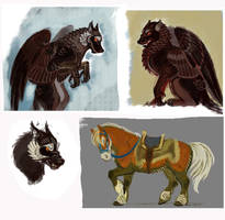 The Snatches: animal sketches (more on Patreon) by Unita-N