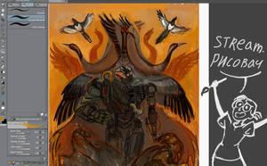 Art livestream: Fowler sketch stream Offline! by Unita-N