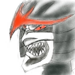 samurai helmeth 2 - evil one by MegaDefender