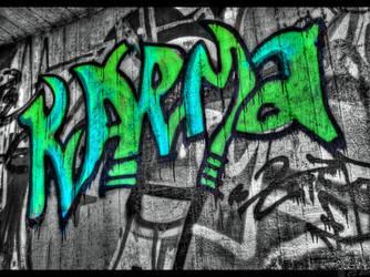 Karma grafitti by Ch-Schmidt