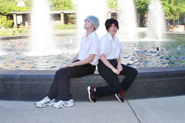 Kaworu and Shinji by SamaruSanddiver
