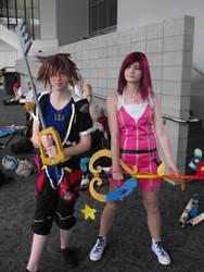 Kingdom Hearts: Sora and Kairi by SeeMeClear