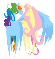 Rainbow Dash and Fluttershy by kicked-in-teeth