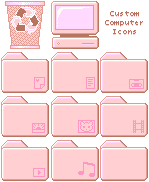 Dusty Rose Computer icons by kicked-in-teeth