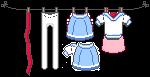 Sailor Uniform Washing Line by kicked-in-teeth