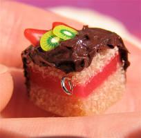 cake slice earrings by MotherMayIjewelry