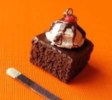Fudge Brownie Charm by MotherMayIjewelry