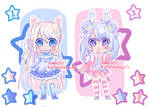 [CLOSED] Collab: Starry Chibis by Chocolatte-Kun