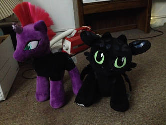 Tempest Shadow and Toothless by CaseySaisi97
