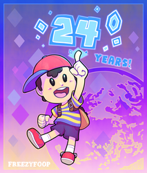 Earthbound's 24th by FreezyFoop
