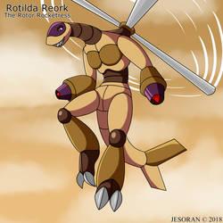 Rotilda Reork - The Rotor Rocketress by Jesoran