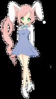 Commission: Chibi Bunny Girl by Samusagi