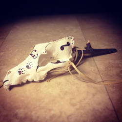 Wolf skull rattle Native American made by CraftyCrawford1