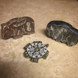 Soapstone carvings by CraftyCrawford1