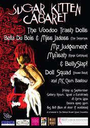 sugar kitten cabaret poster by andricongirl