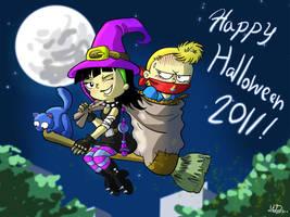 Dani y Yushiko Halloween by mariods