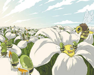 Honey collectors by BattlePeach