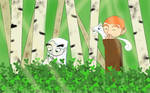 Aisling and Brendan in the clover patch by Whitewolfofkells