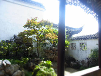 Chinese garden by anexxuuu
