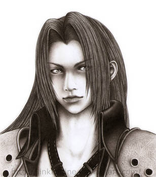 Sephiroth Pencil Drawing by LinkIsMine