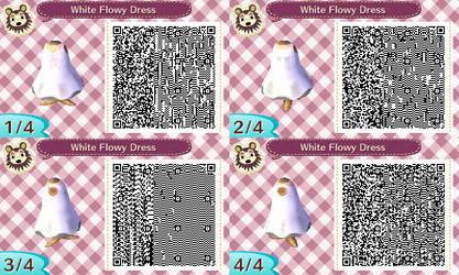 White Flowy Dress by LinkIsMine