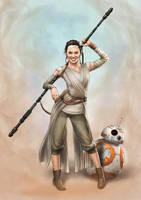 Daisy Ridley as Rey (Star Wars) by Dominicabra
