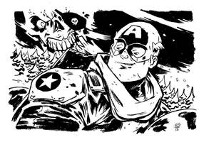Captain America commission by TheWoodenKing