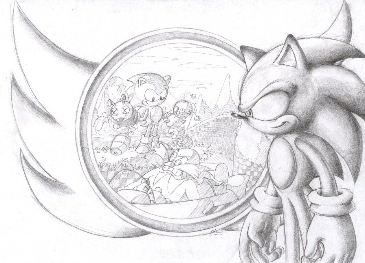 Happy 15th birthday, Sonic by ThePandamis