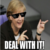 Angela Merkel Deal With It Chat Icon
