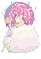 Pearl and Rose by mojoromo
