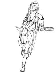 Elfwoman by zaichka