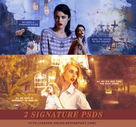 Signature PSD Pack #1 by RavenOrlov