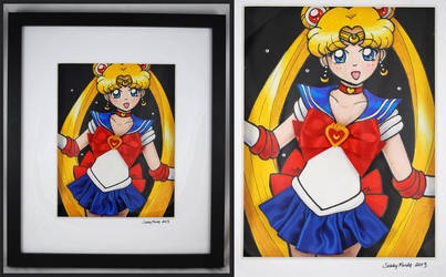 Sailor Moon - Mixed Media Experiment by SarahsPlushNStuff