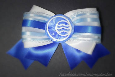 Water Nation Hair Bow by SarahsPlushNStuff