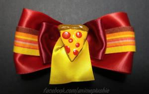 Pizza Hair Bow by SarahsPlushNStuff