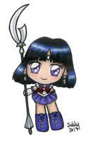 Cute Sailor Saturn Chibi by SarahsPlushNStuff