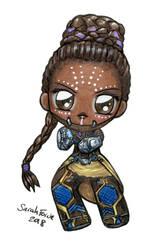Shuri - Black Panther Cutie by SarahsPlushNStuff