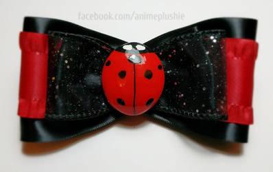 Ladybug Hair Bow by SarahsPlushNStuff