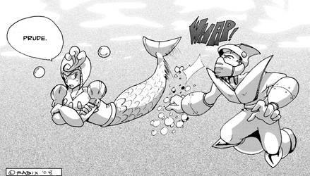 Splash VS. Shark by General-RADIX