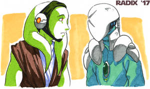 Twi'lek and S'pht by General-RADIX