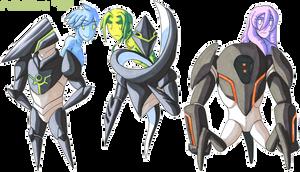 Fallen 'n Symbiote chibis by General-RADIX