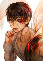 Black Hair Kaneki by xearo-tnc